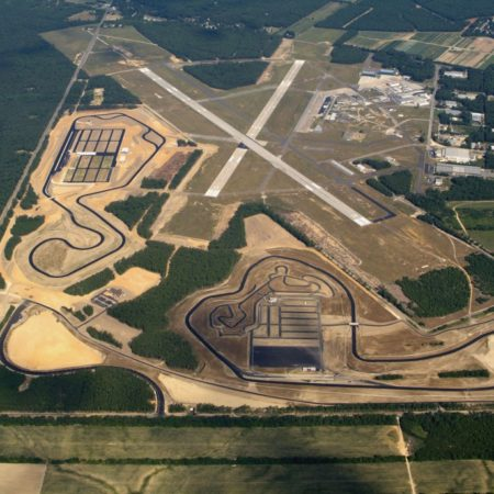 aerial view of thunder bolt raceway at NJMP