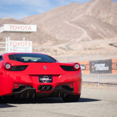 red ferrari 458 italia at willow springs
